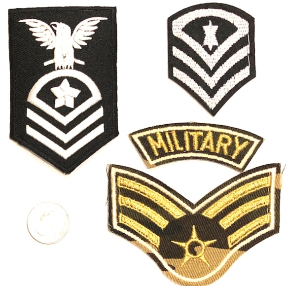 Military patch iron on USA Air Force Navy Army DIY Boutique